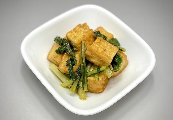 厚揚げと小松菜のからみそーっす炒め