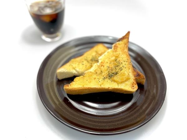 にんにく味噌で甘じょっぱい、『ガーリックみそパン』
